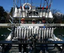 "Great day of fishing aboard the ""Four-Ever"" with Kenosha Charter Boat Association"