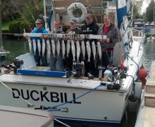 "Great haul aboard the ""Duckbill"" with Kenosha Charter Boat Association"