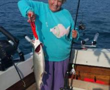 Lake Michigan charter boat fishing is fun for all!