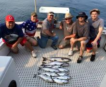 Catching fish with Kenosha Charter Boat Association