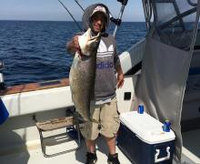 Lake Michigan + Charter Boat Fishing = Perfect day!