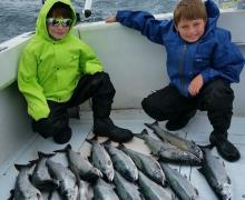 Fun for the whole family with charter boat fishing