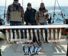 Catching fish on Lake Michigan with Kenosha Charter Boat Association