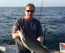 Fishing the day away with Kenosha Charter Boat Assoaciation