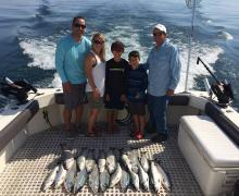 Fun for the whole family, fishing on beautiful Lake Michigan!