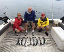 A successful day with Kenosha Charter Boat Association!
