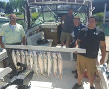 Great day of fishing on Lake Michigan