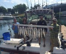 Great day of fishing with Kenosha Charter Boat Association!