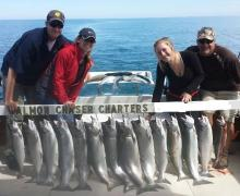 Great day for fishing with Kenosha Charter Boat Association!