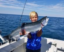 Awesome fishing with Kenosha Charter Boat Association.