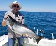 Lots of Big fish like this one can be caught with Kenosha Charter Boat Association.