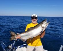 Amazing King Salmon from Port of Kenosha.