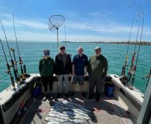 Another great catch of Salmon with Kenosha Charter Boat Association!