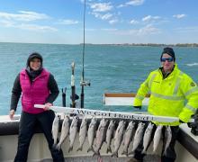 Awesome catch of Salmon on Lake Michigan!