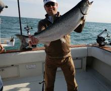 Big things happen on a Kenosha Charter Boat Trip!