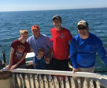 Nice way to spend the day fishing on Lake Michigan!