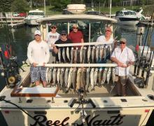 "A day of fantastic fishing aboard the ""Reel Nauti"" on Lake Michigan!"