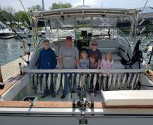 Charter boat fishing on Lake Michigan is fun for all ages!