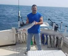 Nice day for fishing on Lake Michigan
