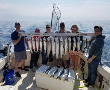 Catching the limit fishing with Kenosha Charter Boat Association
