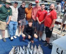 Fun time for everyone when you fish on Lake Michigan!