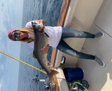 A beautiful Lake Trout caught on Lake Michigan!
