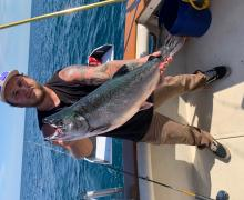 Book a trip with Kenosha Charter Boat Association for the possibility to catch a fish like this one!