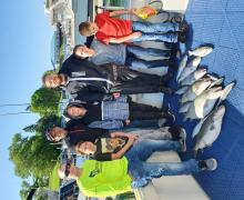 Variety of fish being caught with Kenosha Charter Boat Association.