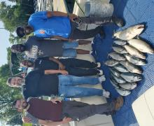 Nice Salmon and Trout being caught on Kenosha Charters.